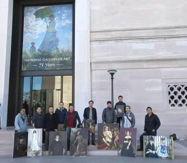 中国油画院画家抵达华盛顿